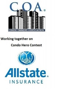COA and Allstate working together on Condo Hero Contest